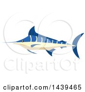 Clipart Of A Marlin Fish Royalty Free Vector Illustration