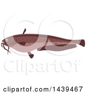 Clipart Of A Sheatfish Royalty Free Vector Illustration