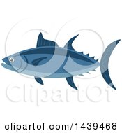 Clipart Of A Tuna Fish Royalty Free Vector Illustration by Vector Tradition SM