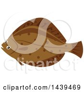 Clipart Of A Flounder Fish Royalty Free Vector Illustration