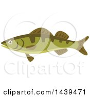 Clipart Of A Perch Fish Royalty Free Vector Illustration