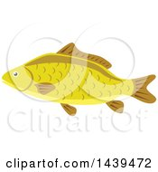 Clipart Of A Carp Fish Royalty Free Vector Illustration