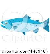 Clipart Of A Salmon Royalty Free Vector Illustration
