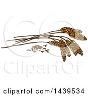 Clipart Of Sketched Wheat Royalty Free Vector Illustration by Vector Tradition SM