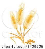Clipart Of Wheat And Stalks Royalty Free Vector Illustration by Vector Tradition SM
