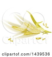 Clipart Of Barley And Stalks Royalty Free Vector Illustration by Vector Tradition SM