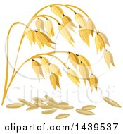 Clipart Of Oats And Stalks Royalty Free Vector Illustration by Vector Tradition SM