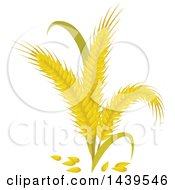 Clipart Of Rye And Stalks Royalty Free Vector Illustration by Vector Tradition SM