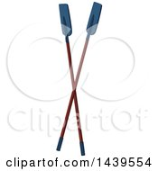 Clipart Of A Pair Of Oars Royalty Free Vector Illustration by Seamartini Graphics