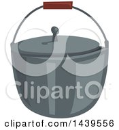 Clipart Of A Campfire Pot Royalty Free Vector Illustration by Vector Tradition SM