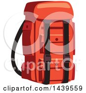 Clipart Of A Camping Backpack Royalty Free Vector Illustration