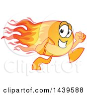 Clipart Of A Comet School Mascot Character Running Royalty Free Vector Illustration