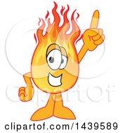Comet School Mascot Character Holding Up A Finger