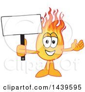 Comet School Mascot Character Holding A Blank Sign
