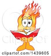 Comet School Mascot Character Reading A Book