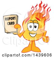 Comet School Mascot Character Student Holding A Report Card