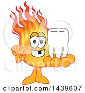 Comet School Mascot Character Holding A Knocked Out Tooth