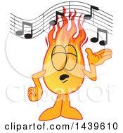 Comet School Mascot Character Singing