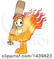 Comet School Mascot Character Holding A Baseball Bat
