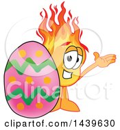 Comet School Mascot Character With An Easter Egg