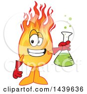 Comet School Mascot Character Holding A Science Flask