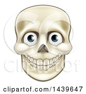 Clipart Of A Human Skull With Eyeballs Royalty Free Vector Illustration