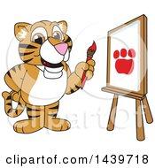 Poster, Art Print Of Tiger Cub School Mascot Character Painting