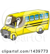 Clipart Of A Sandpiper Bird School Mascot Character Driving A School Bus Royalty Free Vector Illustration by Toons4Biz