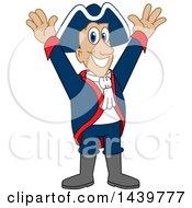 Patriot School Mascot Character Cheering