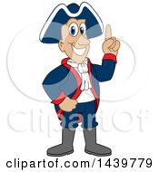 Clipart Of A Patriot School Mascot Character With An Idea Royalty Free Vector Illustration