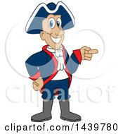 Clipart Of A Patriot School Mascot Character Pointing Royalty Free Vector Illustration by Toons4Biz