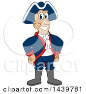 Clipart Of A Patriot School Mascot Character Royalty Free Vector Illustration