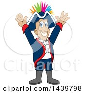 Clipart Of A Patriot School Mascot Character With A Mohawk Royalty Free Vector Illustration by Toons4Biz