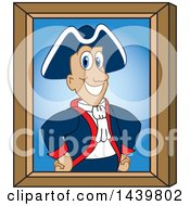 Clipart Of A Patriot School Mascot Character Portrait Royalty Free Vector Illustration by Toons4Biz