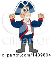 Patriot School Mascot Character Flexing