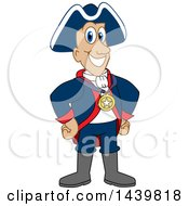 Patriot School Mascot Character Wearing A Sports Medal