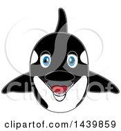 Killer Whale Orca School Mascot Character