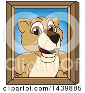 Clipart Of A Lion Cub School Mascot Character Portrait Royalty Free Vector Illustration