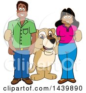 Lion Cub School Mascot Character With Happy Teachers Or Parents