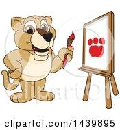 Lion Cub School Mascot Character Painting