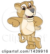 Clipart Of A Lion Cub School Mascot Character Leaning Royalty Free Vector Illustration