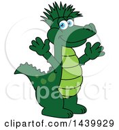 Gator School Mascot Character With A Mohawk