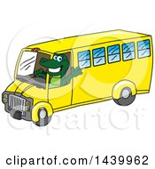 Clipart Of A Gator School Mascot Character Driving A School Bus Royalty Free Vector Illustration
