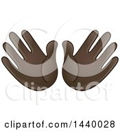 Cartoon Open Pair Of Emoji Hands