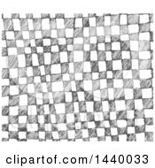 Clipart Of A Sketched Checkered Background Royalty Free Vector Illustration by yayayoyo