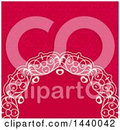 Swirly Ornate Heart And Floral Background