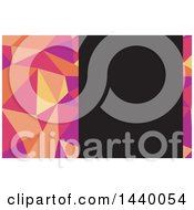 Clipart Of A Geometric Low Poly Business Card Design With Black Text Space Royalty Free Vector Illustration