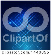 Clipart Of A Blue Circuit Digital Technology Background Royalty Free Vector Illustration