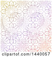 Clipart Of A Colorful Pastel Flower Pattern Background Royalty Free Vector Illustration