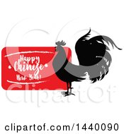 Clipart Of A Happy Chinese New Year Design With A Rooster Royalty Free Vector Illustration by Vector Tradition SM